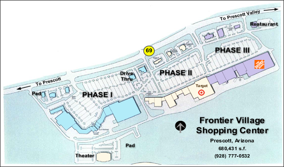 frontier village prescott arizona site map