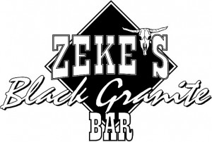 Zekes Black Granite Bar