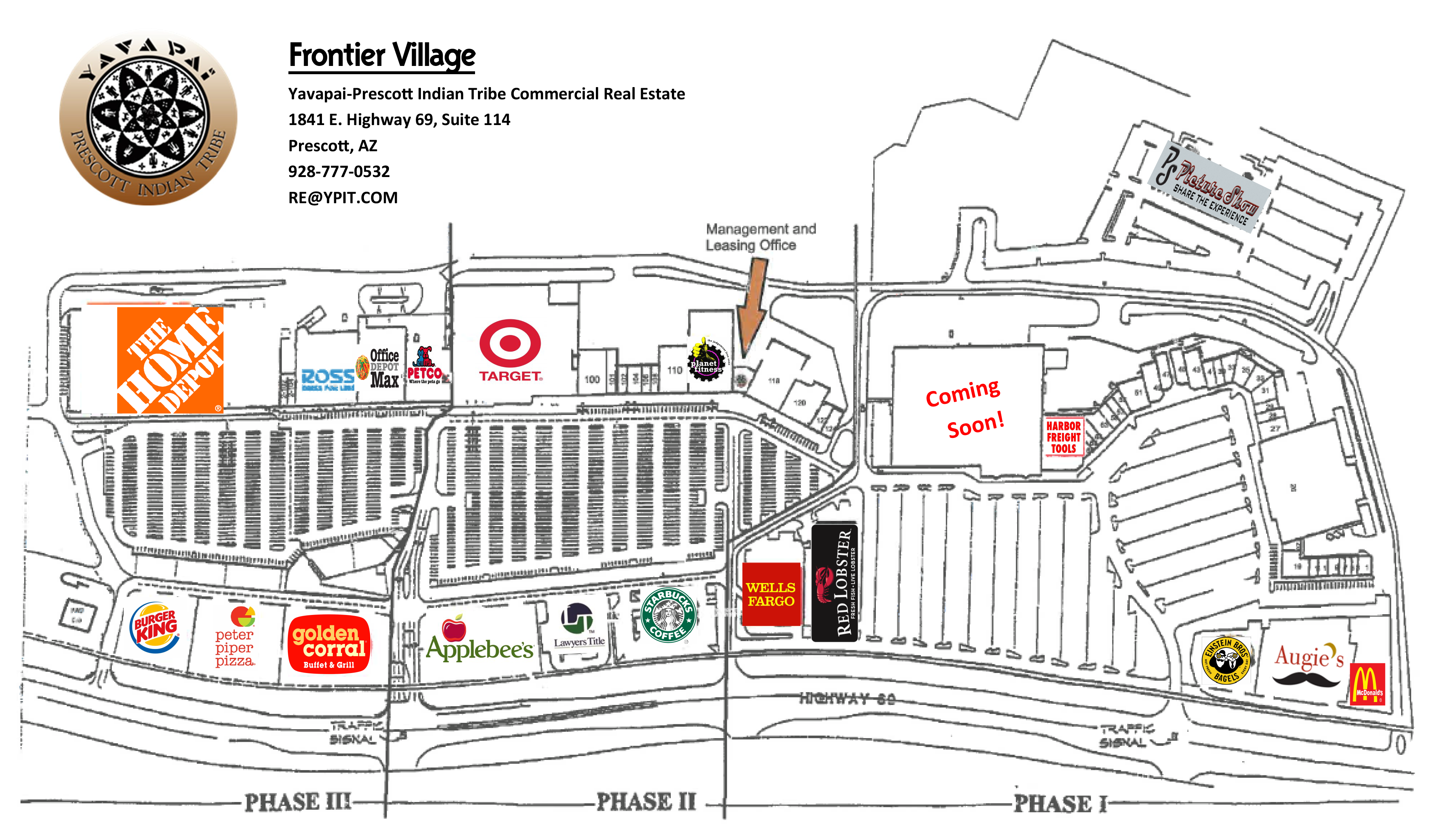 Frontier Village Store Map